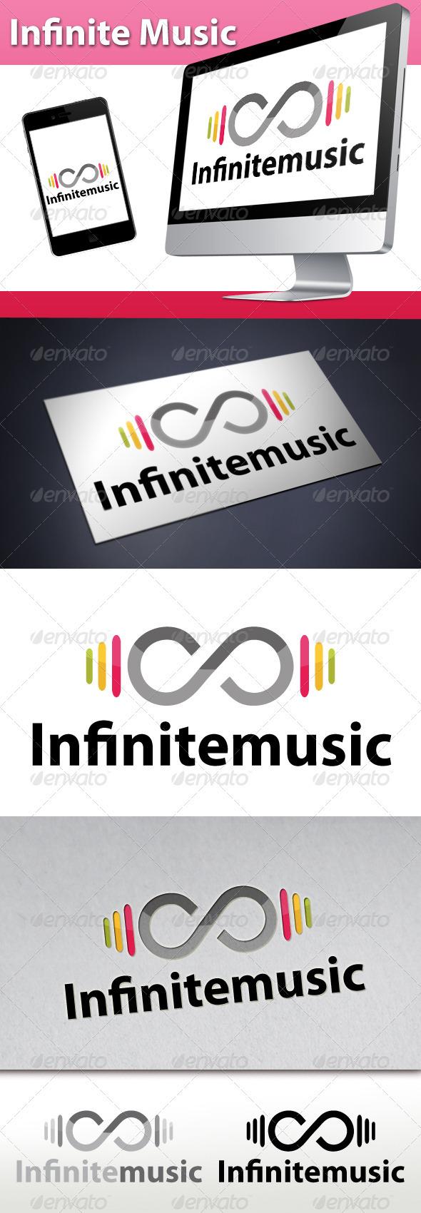 Infinite Music Beats Logo - Symbols Logo Templates