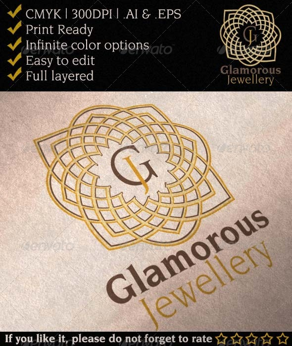 Glamorous Jewelry Gallery Logo - Abstract Logo Templates