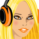 Young girl in headphones - GraphicRiver Item for Sale