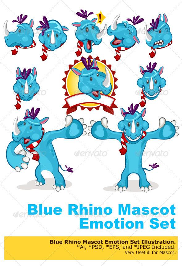 Rhino Mascot - Characters Vectors