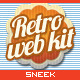 4 Retro Navigation Bar & Web Element Kits - GraphicRiver Item for Sale