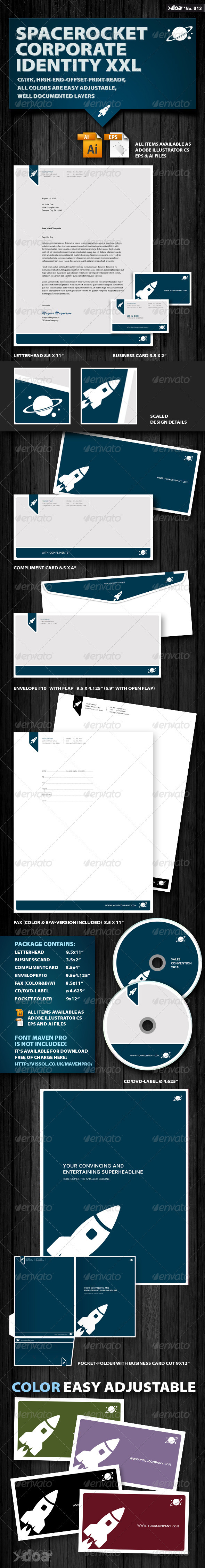Space Rocket Corporate Identity XXL - Stationery Print Templates