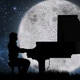 Pianist Playing Piano On Grassland During Full Moon - VideoHive Item for Sale