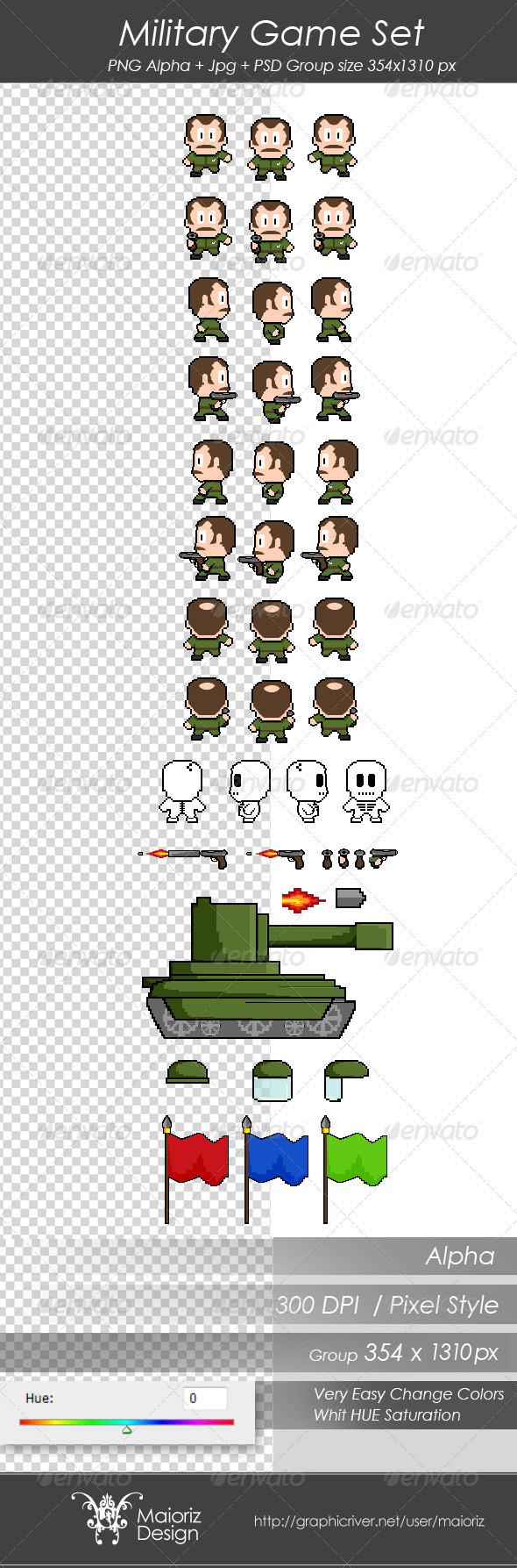 Military Game Set - Sprites Game Assets