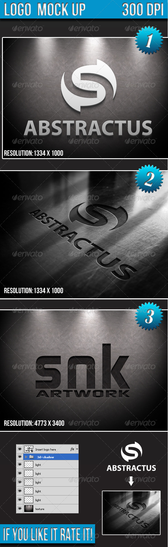 Logo Mock-up  - Logo Product Mock-Ups