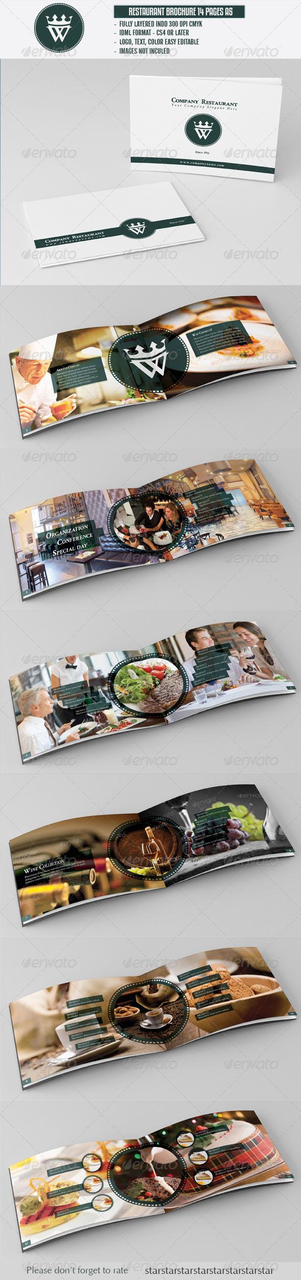 Restaurant Cafe Brochure A5 - Brochures Print Templates