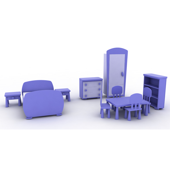 Mammut Child Furniture - 3DOcean Item for Sale