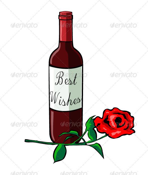 Wine and rose - Valentines Seasons/Holidays