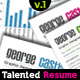 Talented Resume V.1  - GraphicRiver Item for Sale
