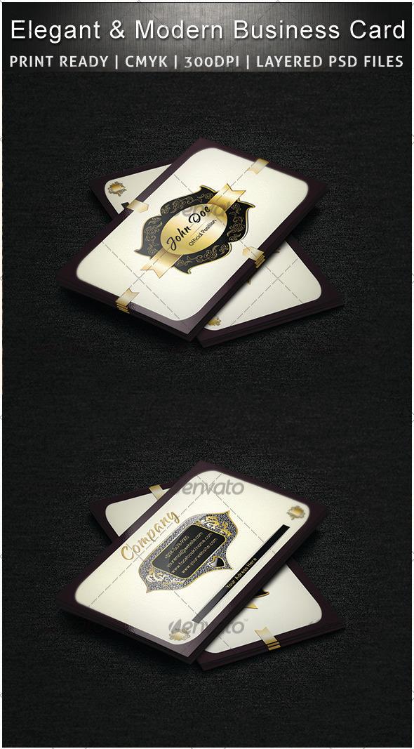Elegand & Modern Business Card - Creative Business Cards