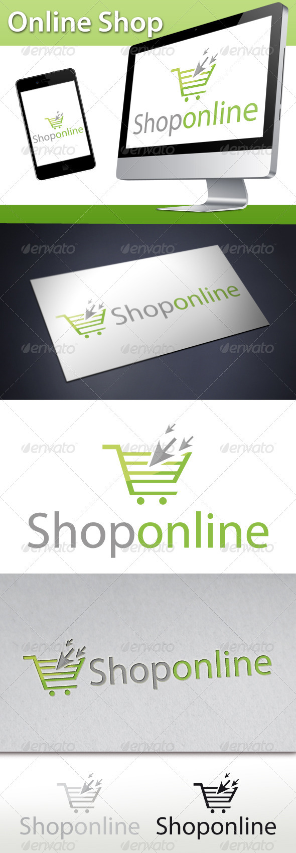 Online Shop Click Cart Logo - Objects Logo Templates