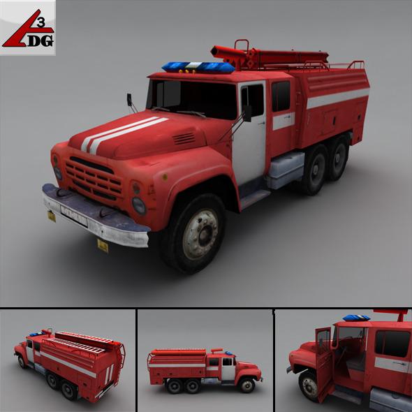 ZIL LowPoly - fire truck - 3DOcean Item for Sale