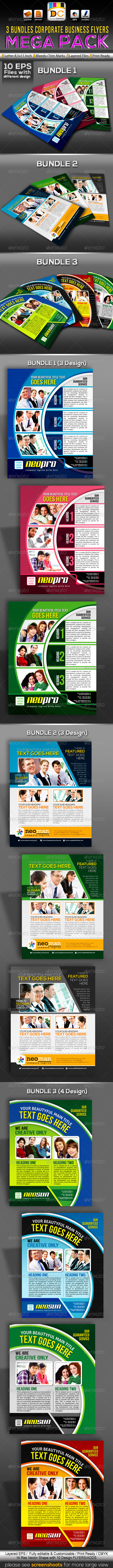 Corporate Business Flyer Mega Bundle Pack - Corporate Flyers