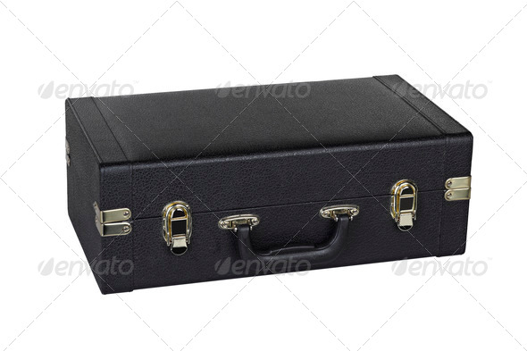 black case for saxophone - Stock Photo - Images