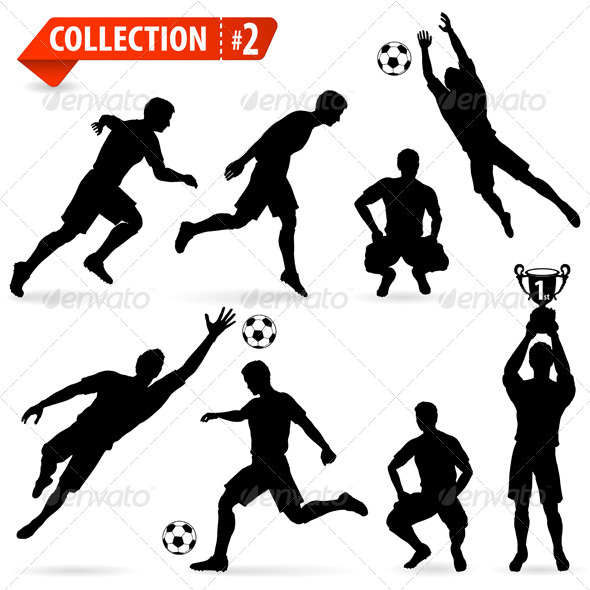 Silhouettes Football Players - Sports/Activity Conceptual