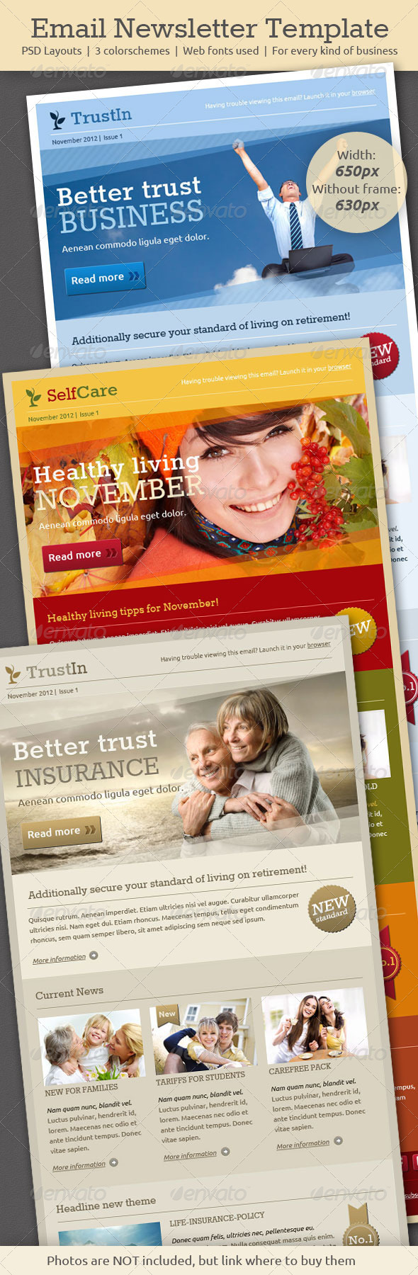 Email Newsletter Template - E-newsletters Web Elements