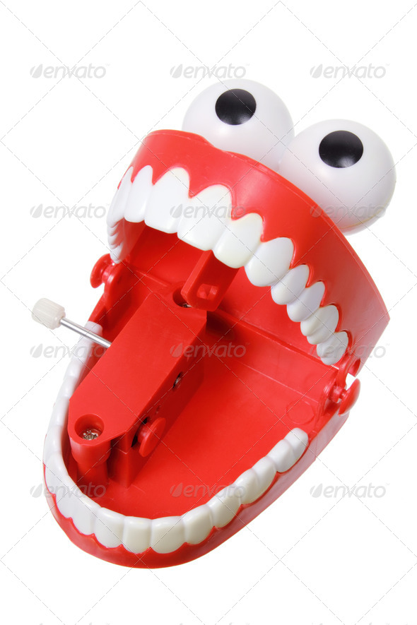 Chattering Teeth - Stock Photo - Images
