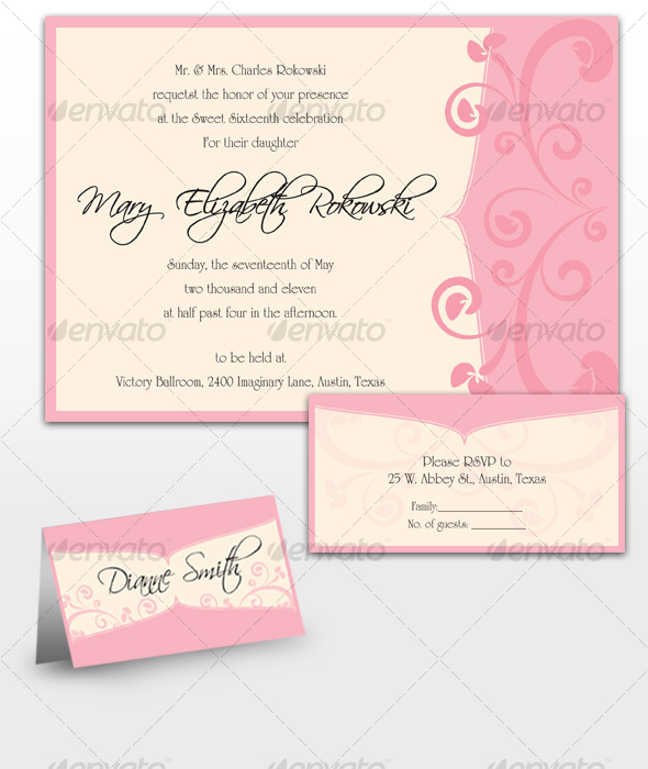 Mary Sweet Sixteen Invitations - Invitations Cards & Invites
