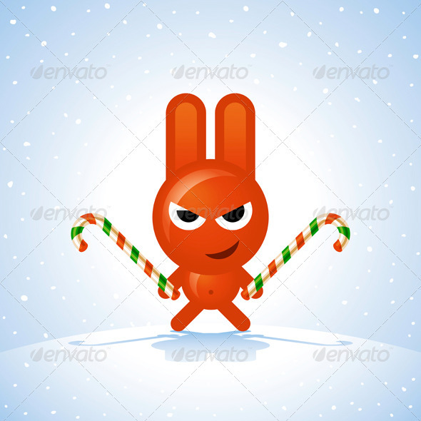 Christmas Rabbit - Animals Characters