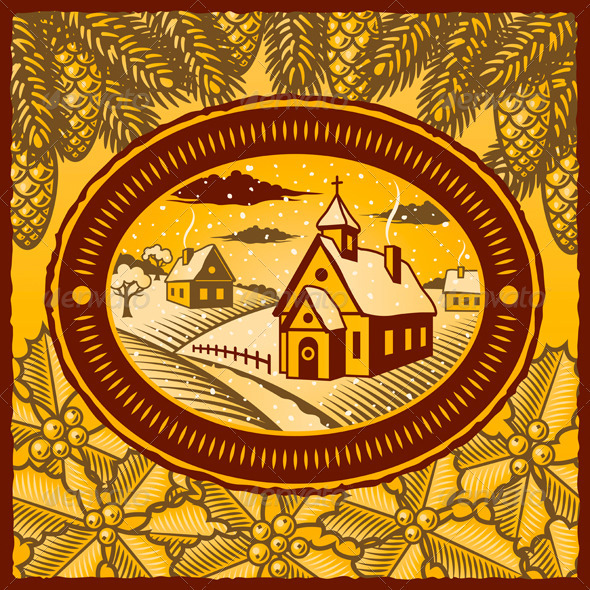 Retro Winter Village - Christmas Seasons/Holidays