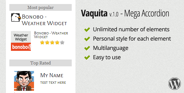 Vaquita - Mega Accordion Widget - CodeCanyon Item for Sale