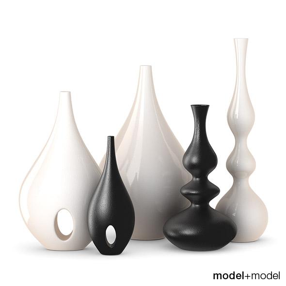 Rochebobois Minsk & Bulb vases - 3DOcean Item for Sale