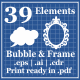 Bubble And Frame For Photo Booth Props - GraphicRiver Item for Sale
