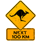 Roadsign Kangaroos Next 100 km - GraphicRiver Item for Sale