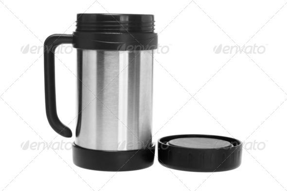 Open Thermos Mug - Stock Photo - Images
