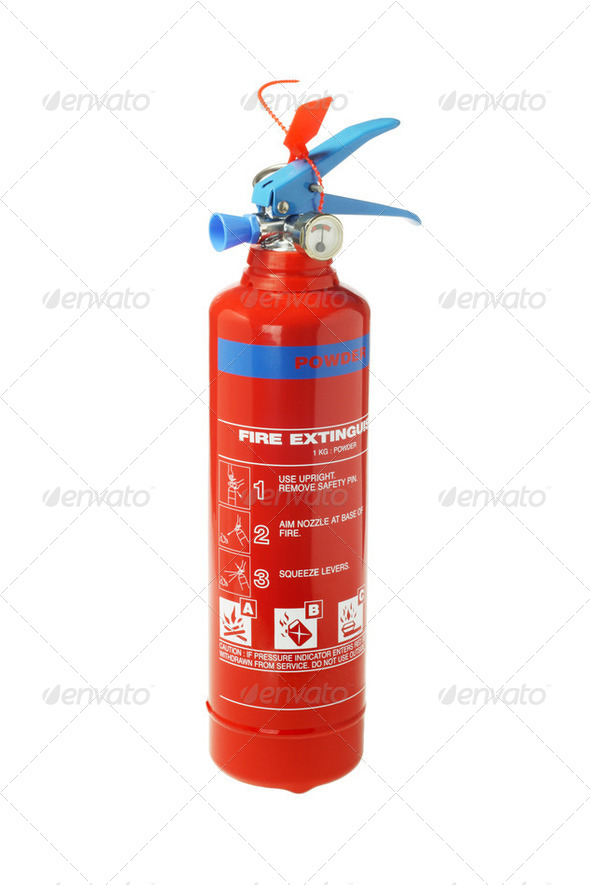 Portable Fire Extinguisher - Stock Photo - Images