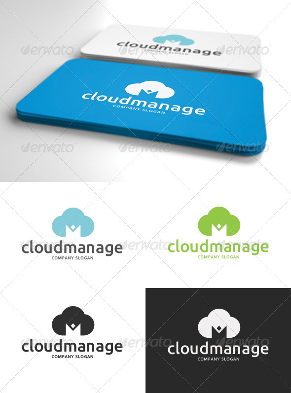 Cloud Management Logo - Humans Logo Templates