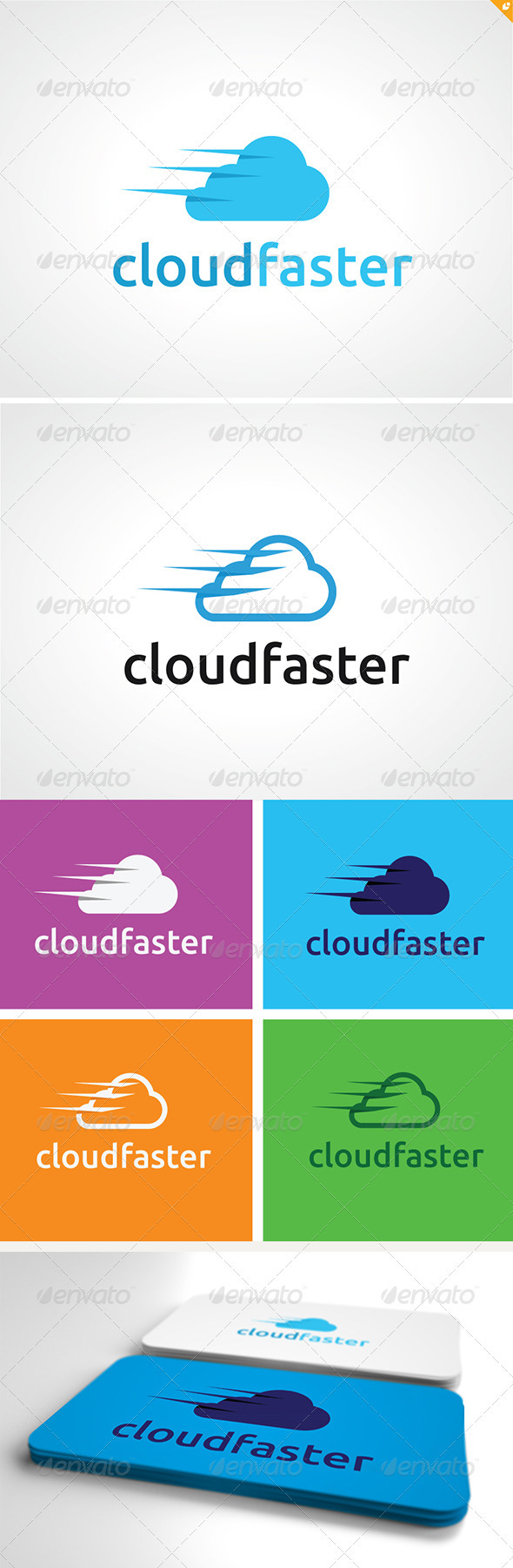 Cloud Faster Logo - Nature Logo Templates