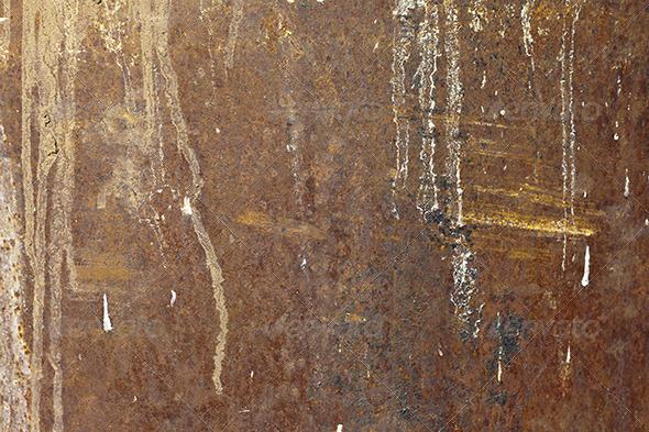 Vintage Rusty Grunge Iron Textured Background - Metal Textures