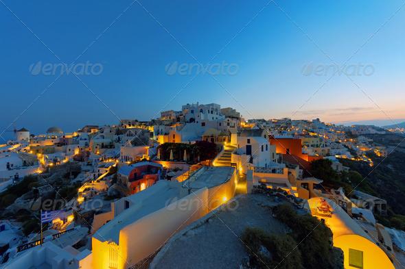 Oia at sunrise - Stock Photo - Images