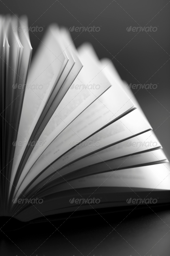 abstract open book background - Stock Photo - Images