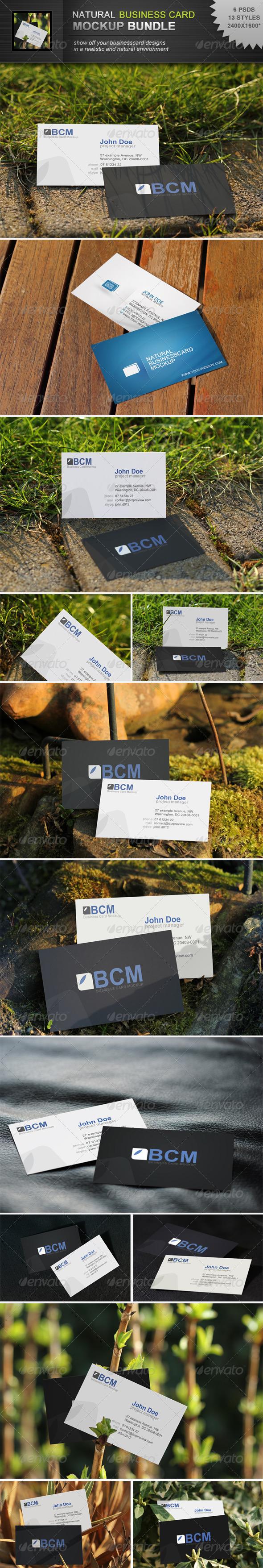 Natural Businesscard Mockup Bundle - Business Cards Print