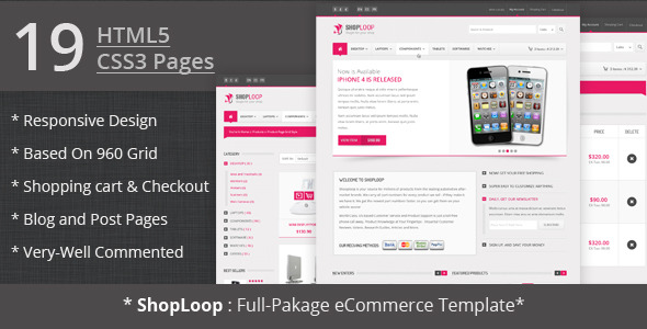 Shoploop: Responsive Html5 eCommerce Template