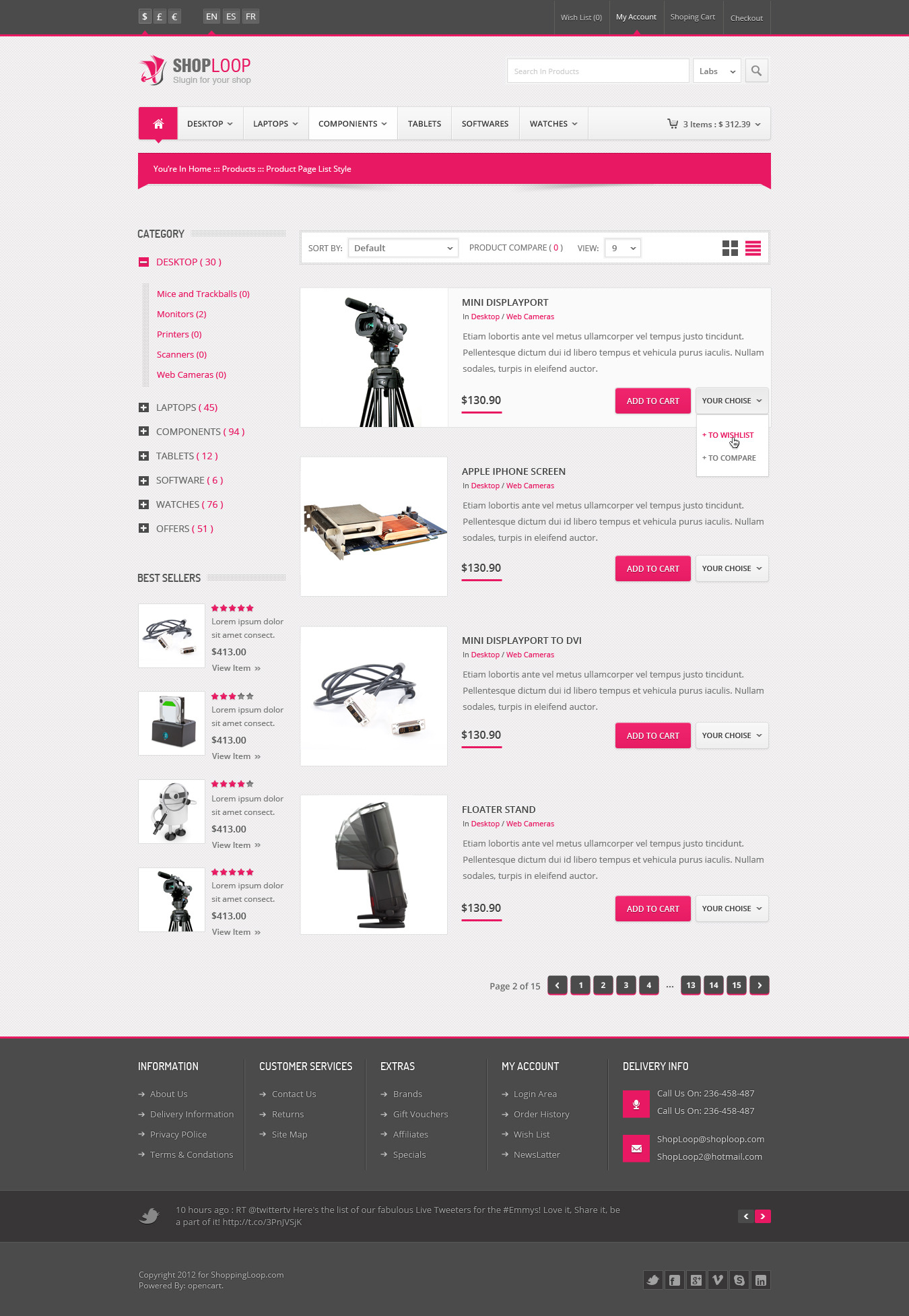 Shoploop Responsive Html5 Ecommerce Template By Ahmedchan Themeforest
