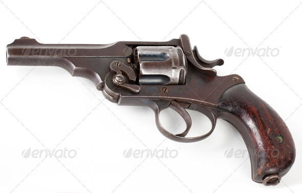 rusty pistol - Stock Photo - Images