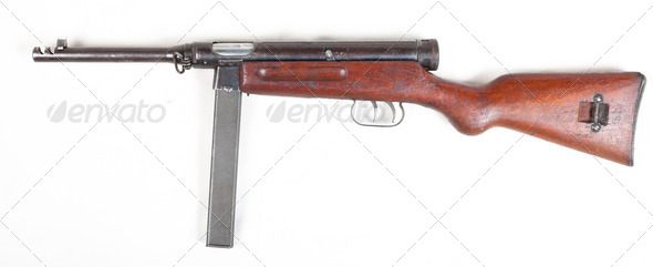 old submachine gun - Stock Photo - Images