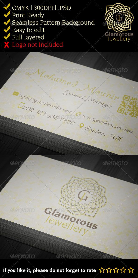 Glamorous Jewelry Gallery Business Card - Creative Business Cards