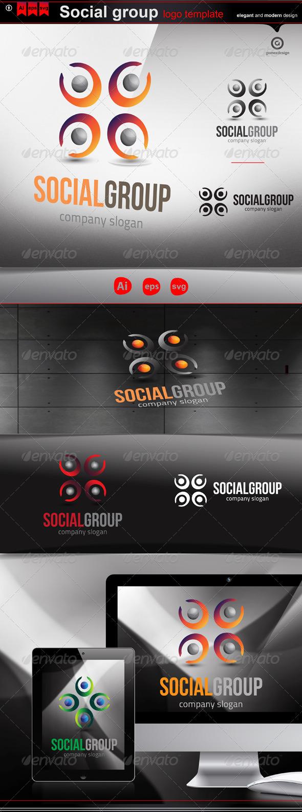 Social group - Logo Templates