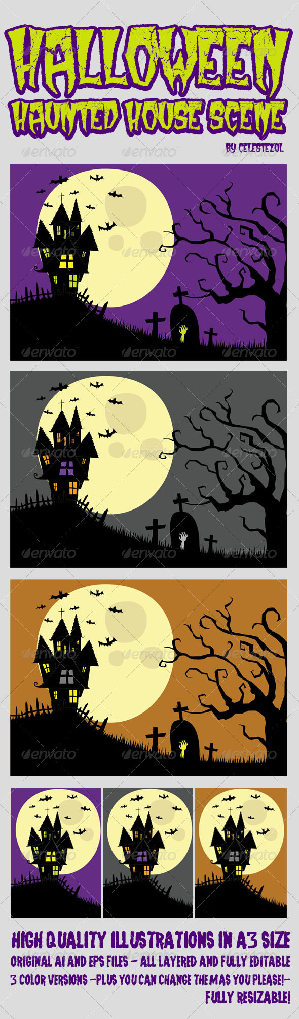 Halloween Haunted House - Halloween Seasons/Holidays