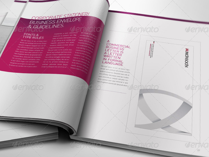 Corporate Design Manual Guide - 28 Pages by egotype | GraphicRiver