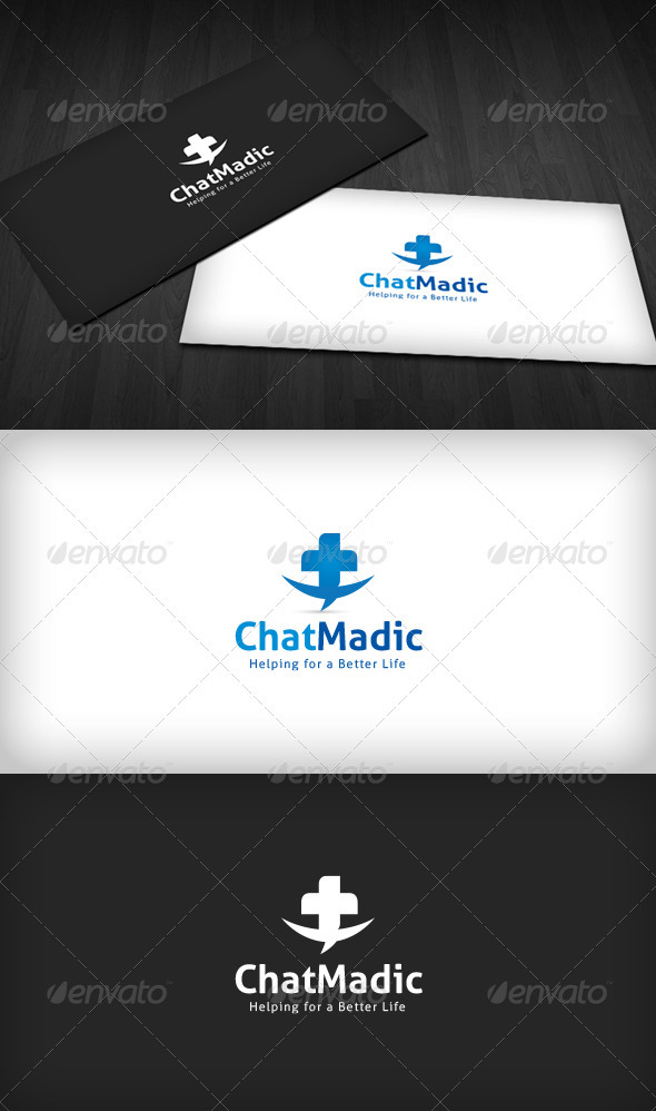 Chat Madic Logo - Vector Abstract