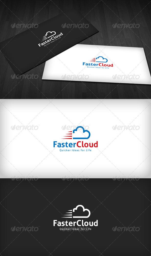 Faster Cloud Logo - Symbols Logo Templates