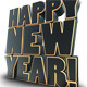 Happy New Year 3D Text Render - GraphicRiver Item for Sale