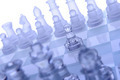 Glass chess. The first move. - PhotoDune Item for Sale