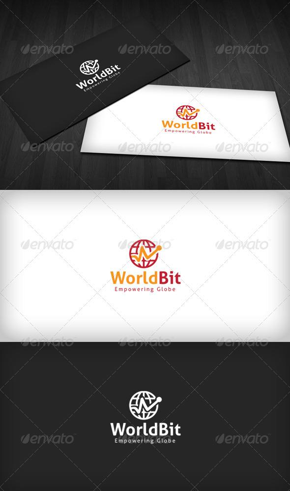 World Bit Logo - Vector Abstract