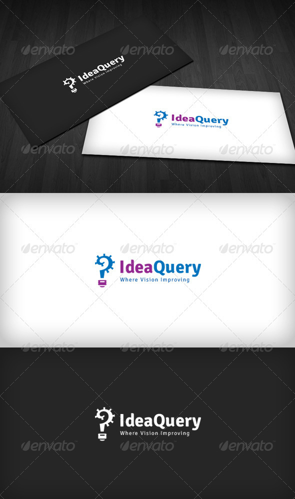 Idea Query Logo - Vector Abstract